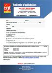 Bulletin d'adhésion CGT Generali
